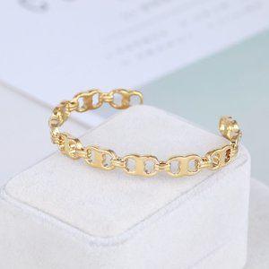 Tory Burch Delicate Gemini Link Bracelet Cuff
